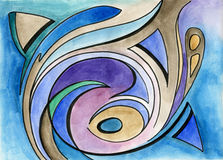 Sztuka abstrakcjonistyczny projekt royalty ilustracja