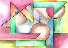 Sztuka abstrakcjonistyczny projekt ilustracji