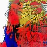 sztuka abstrakcyjna cyfrowa ilustracja wektor