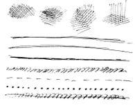 Sztuka akwarela Czarny punkt na akwarela papierze odosobniony Abstrakcjonistyczny szarość punkt na białym tle atrament kropla gre obraz royalty free