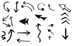 Sztuka akwarela Czarny punkt na akwarela papierze odosobniony Abstrakcjonistyczny szarość punkt na białym tle atrament kropla gre obrazy royalty free