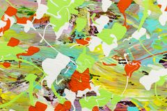Sztuka barwi przypadkowego farby tło ilustracja wektor