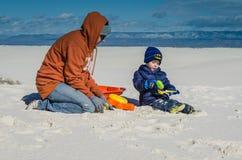 Sztuka - Białych piasków Krajowy zabytek - Nowa - Mexico zdjęcie stock