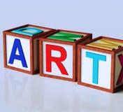 Sztuka bloków przedstawienia inspiraci oryginalność I twórczość Fotografia Stock
