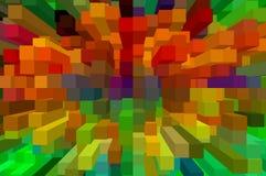 Sztuka bloku koloru abstrakta wzoru tło Zdjęcia Royalty Free