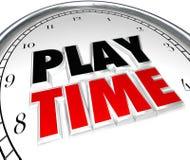 Sztuka czasu zegaru zabawy odtwarzania recesi sportów aktywność Fotografia Stock