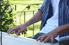 Sztuka Elektroniczny muzykalny klawiaturowy instrument Obraz Royalty Free