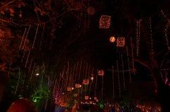 Sztuka festiwalu oświetlenie w India-2 Obrazy Stock