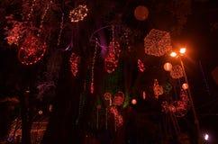 Sztuka festiwalu oświetlenie w India-3 Zdjęcia Stock