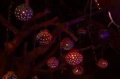 Sztuka festiwalu oświetlenie w India-4 Zdjęcia Stock