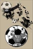 Sztuka futbolu ściana Zdjęcie Royalty Free