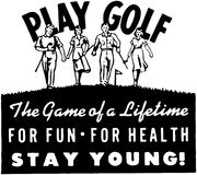Sztuka golf 2 ilustracja wektor