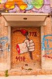 Sztuka graffiti w 798 ulicie, Pekin na 25 2013 Maju Zdjęcie Stock