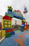 Sztuka Grodzki teren w Legoland Malezja 21 batalistycznych duży redakcyjnych rozrywki festiwalu wizerunku rycerzy średniowieczna  Zdjęcia Royalty Free