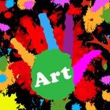 Sztuka Handprint Reprezentuje Colourful młodzienów I Colour ilustracja wektor
