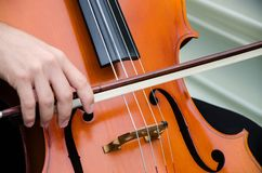 Sztuka i artysty mężczyzna Młoda elegancka skrzypaczka bawić się skrzypce na czerni muzyka klasyczna obraz stock