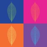 Sztuka liścia stylowi wektorowi koścowie Zdjęcie Stock