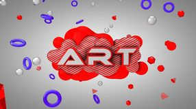 Sztuka logo Obraz Stock