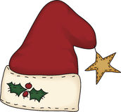 sztuka ludowy kapeluszowy Santa Obraz Stock