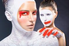 Sztuka makijaż fotografia royalty free