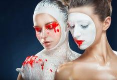 Sztuka makijaż obraz royalty free