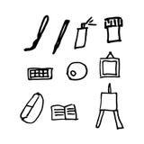 Sztuka materiałów ikony ustawiać Obrazy Royalty Free