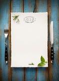 Sztuka menu restauraci Cukierniana broszurka Karmowy projekta szablon Fotografia Royalty Free