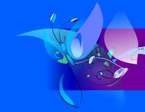 sztuka motyla cyfrowa kwiatów wiosny Zdjęcie Stock
