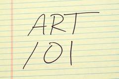 Sztuka 101 Na Żółtym Legalnym ochraniaczu Fotografia Stock