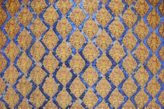 Sztuka na ścianie w wata tha śpiewał świątynię Tajlandia obraz royalty free