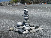 Sztuka na Calabrian plaży Fotografia Stock