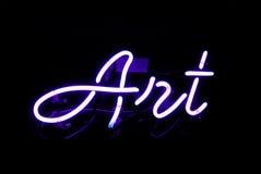 Sztuka Neonowy znak Obraz Stock