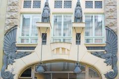 Sztuka Nouveau Buduje Tallinn, Estonia Obrazy Royalty Free