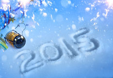 Sztuka 2015 nowy rok przyjęcie Zdjęcia Stock