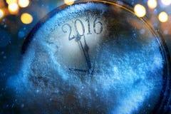Sztuka nowy rok zegar 2016 Fotografia Royalty Free