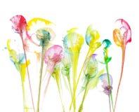 Sztuka obrazu abstrakta kwiaty ilustracja wektor