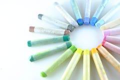 Sztuka pastelu paleta Obrazy Stock