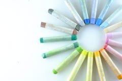 Sztuka pastelu paleta Zdjęcia Stock