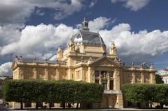 Sztuka pawilon w Zagreb Zdjęcia Royalty Free