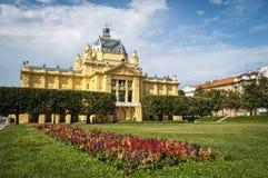 Sztuka pawilon, Zagreb, Chorwacja fotografia royalty free