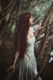 Sztuka piękna portret czerwona włosiana kobieta fotografia stock