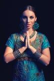 Sztuka piękna portret piękny moda indianin Zdjęcia Royalty Free