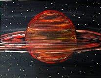 sztuka planetę słońca Zdjęcia Stock