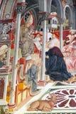 Sztuka przy antycznym szpitalem Santa Maria della Scala, Siena, Włochy zdjęcie stock