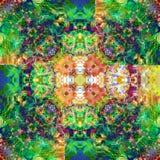 Sztuka rocznika Kolorowy Ornamentacyjny Bezszwowy wzór Obraz Stock