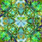 Sztuka rocznika Kolorowy Ornamentacyjny Bezszwowy wzór Fotografia Stock