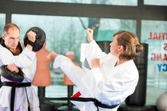 Sztuka Samoobrony sporta szkolenie w gym Fotografia Royalty Free