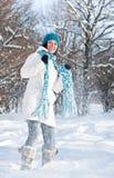 sztuka snow kobieta fotografia royalty free