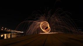 Sztuka stalowej wełny fotografia fotografia stock