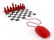 Sztuka szachy online Obrazy Stock